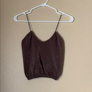 Free People taupe crop top